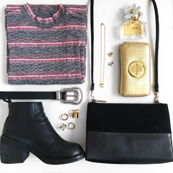 Outfit Of The Day: Pink Stripes and Mixed Metals