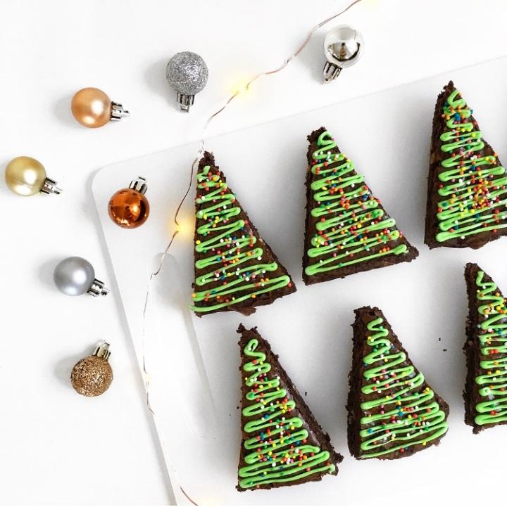 Christmas Tree Brownies | Blogmas Day7