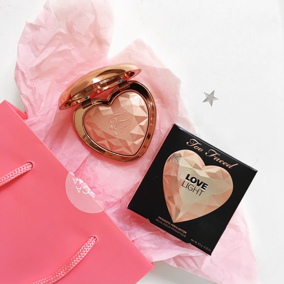 Too Faced Love Light Prismatic Highlighter Review